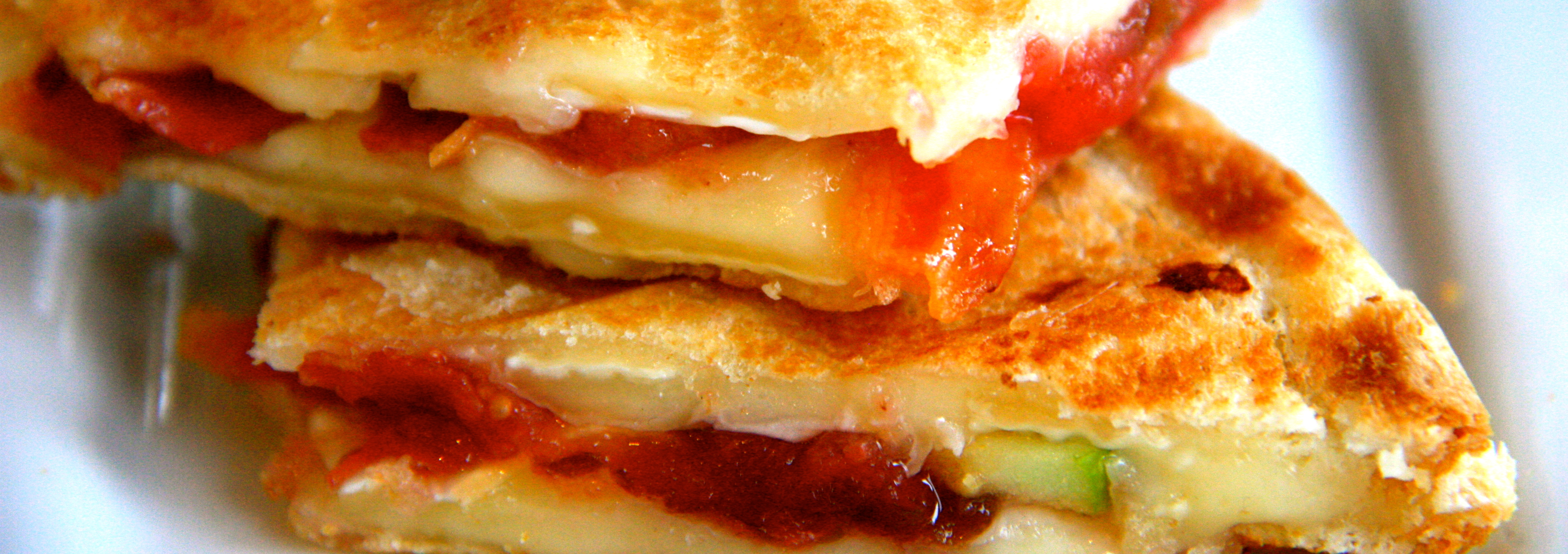 Grilled Cheese with Brie, Pancetta, Apple, & Fig Jam