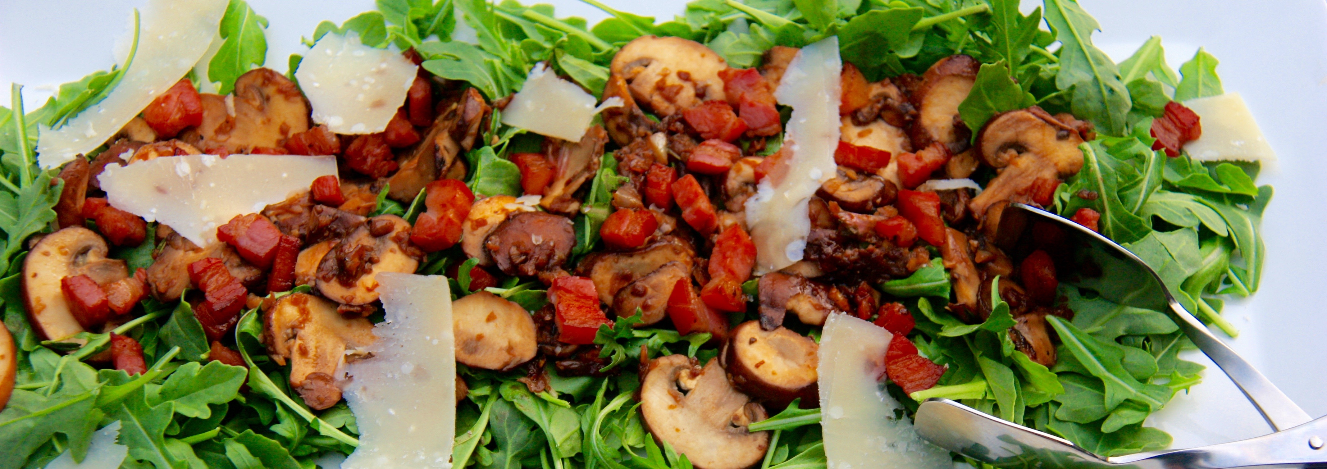 Warm Mushroom and Bacon Salad