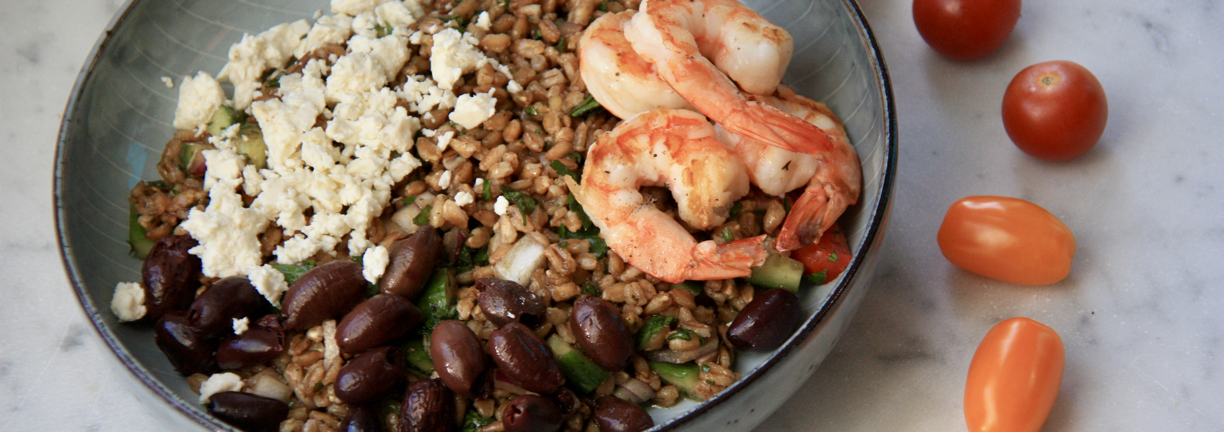 Greek Farro Bowl