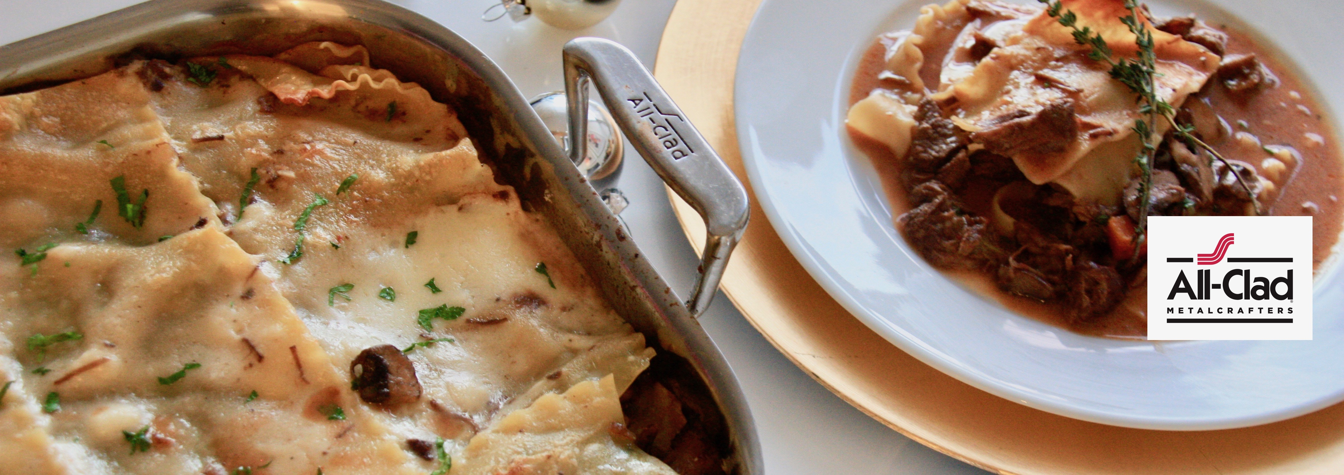 Braised Short Rib and Mushroom Lasagna (Partnership with All-Clad)