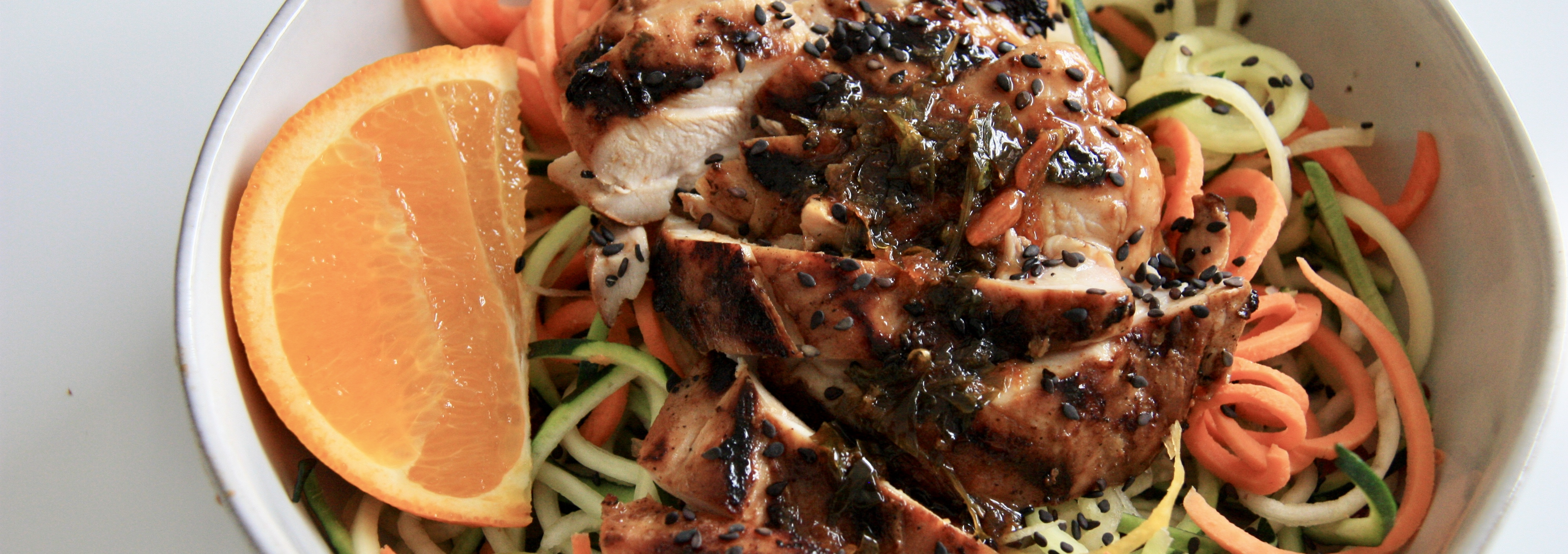 Sweet and Sticky Chicken Thighs with Zoodles